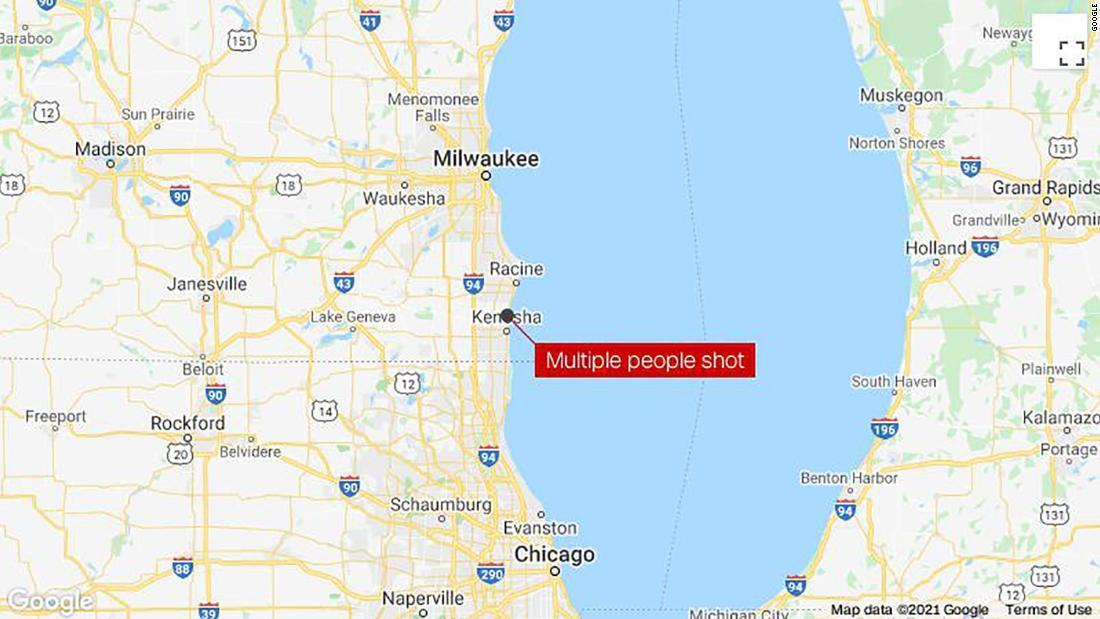 事件はウィスコンシン州ケノーシャで発生/Google