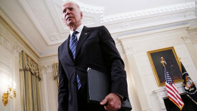 バイデン米大統領=23日、米ワシントンDCのホワイトハウス/Mandel Ngan/AFP/Getty Images