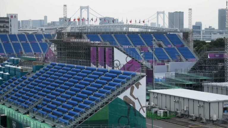 五輪の会場となる有明アーバンスポーツパーク=7日、東京都/Kazuhiro Nogi/AFP/Getty Images