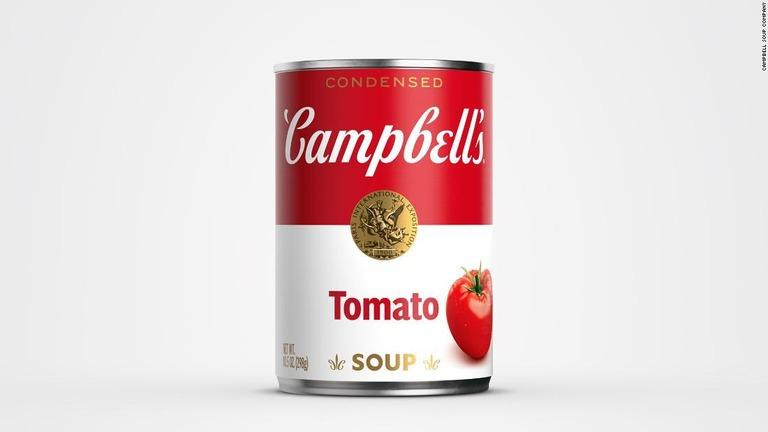 キャンベルスープ缶、50年ぶりにデザイン一新へ
