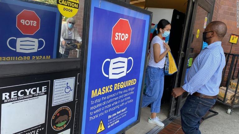 米CDC、マスクの指針見直し 感染拡大地域では接種済みでも着用を