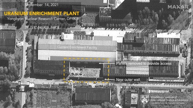 北朝鮮、兵器級ウラン生産が可能な施設を拡張 衛星画像で判明